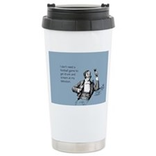 Football Drunk Stainless Steel Travel Mug