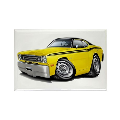 Duster Yellow-Black Car Rectangle Magnet