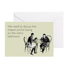Bathroom Impact Greeting Card