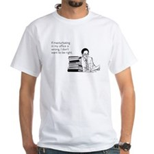 Office Masturbation White T-Shirt