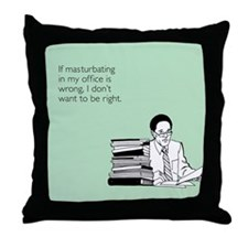 Office Masturbation Throw Pillow
