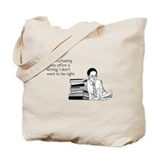 Office Masturbation Tote Bag