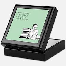 Office Masturbation Keepsake Box