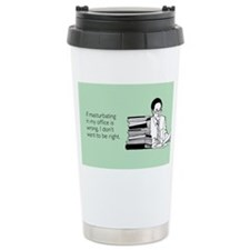 Office Masturbation Stainless Steel Travel Mug