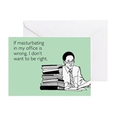 Office Masturbation Greeting Card