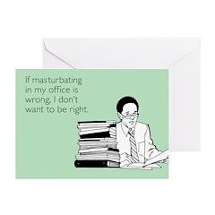 Office Masturbation Greeting Cards (Pk of 20)