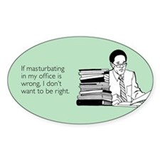 Office Masturbation Sticker (Oval)