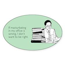 Office Masturbation Decal