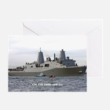 USS NEW YORK Greeting Card
