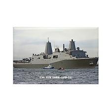 USS NEW YORK Rectangle Magnet