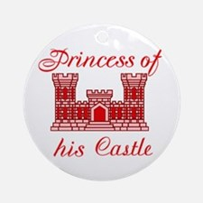 his castle red Ornament (Round)