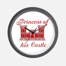 his castle red Wall Clock