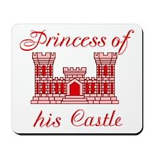 his castle red Mousepad