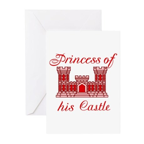 his castle red Greeting Cards (Pk of 10)