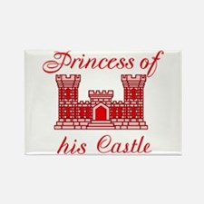 his castle red Rectangle Magnet (10 pack)