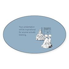 Inspirational Presentation Sticker (Oval)