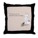 Serotonin Levels Throw Pillow