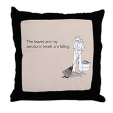 Serotonin Levels Throw Pillow