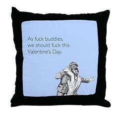 Fuck Buddies Throw Pillow