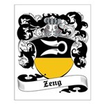Zeng Coat of Arms Small Poster