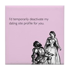 Dating Profile Tile Coaster