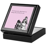 Dating Profile Keepsake Box