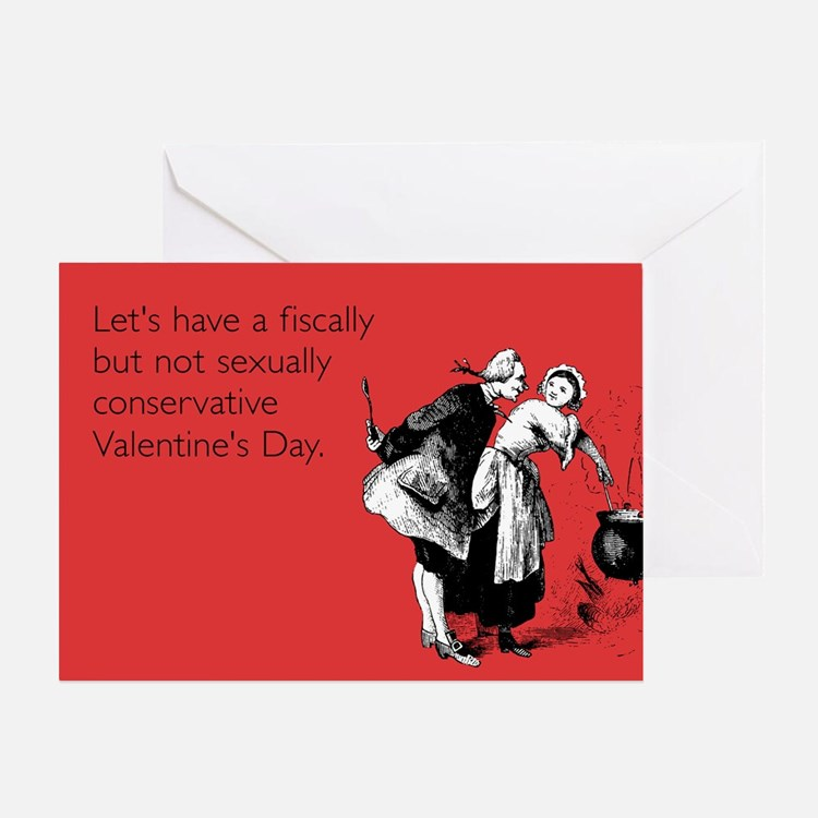 Fiscally But Not Sexually Greeting Card
