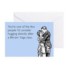 Bikram Yoga Class Greeting Card