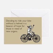 Helmetless Hope Greeting Card