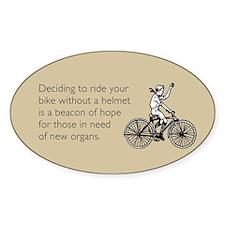 Helmetless Hope Sticker (Oval)
