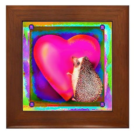 """Hedgie Heart"" Framed Tile"