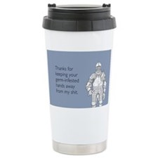 Germ-Infested Hands Stainless Steel Travel Mug