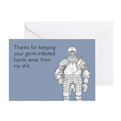 Germ-Infested Hands Greeting Card