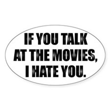 AT THE MOVIES - Oval Decal