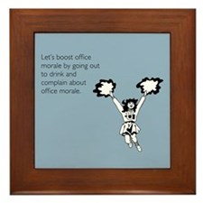 Boost Office Morale Framed Tile