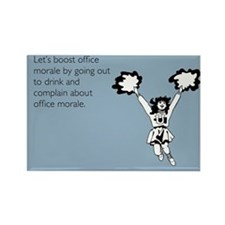 Boost Office Morale Rectangle Magnet