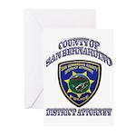 San Bernardino District Attor Greeting Cards (Pk o