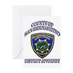 San Bernardino District Attor Greeting Card