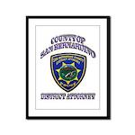 San Bernardino District Attor Framed Panel Print