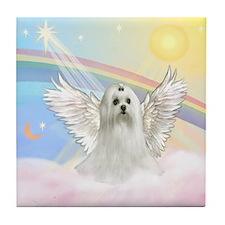 Maltese Angel (C) Tile Coaster