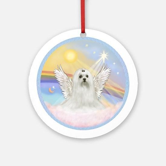 Maltese Angel (C) Ornament (Round)