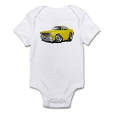 Duster Yellow Car Infant Bodysuit
