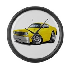 Duster Yellow Car Large Wall Clock