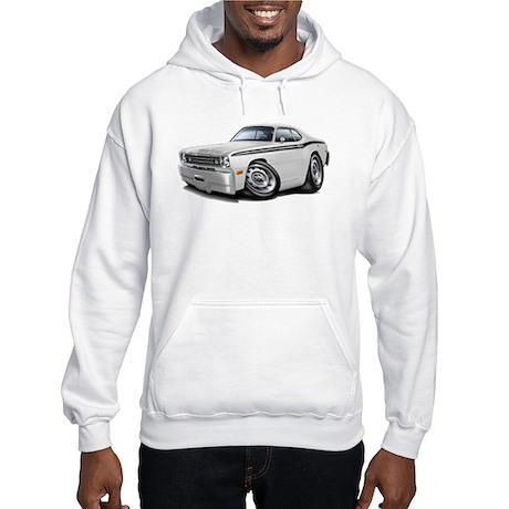 Duster White-Black Car Hooded Sweatshirt
