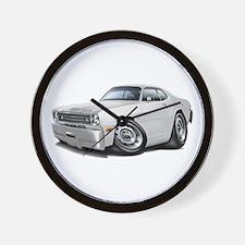 Duster White Car Wall Clock