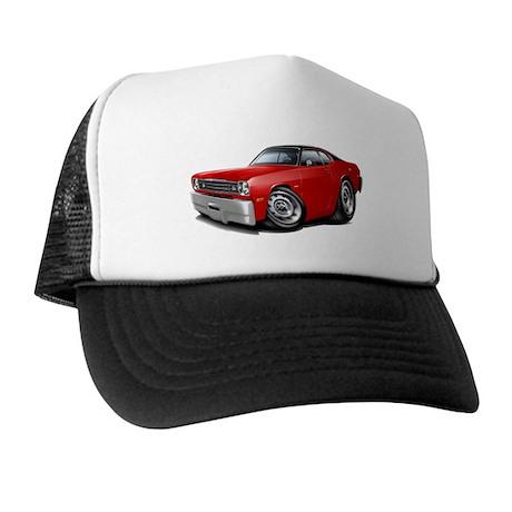 Duster Red-Black Top Car Trucker Hat