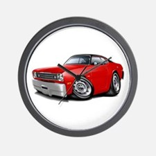 Duster Red-Black Top Car Wall Clock