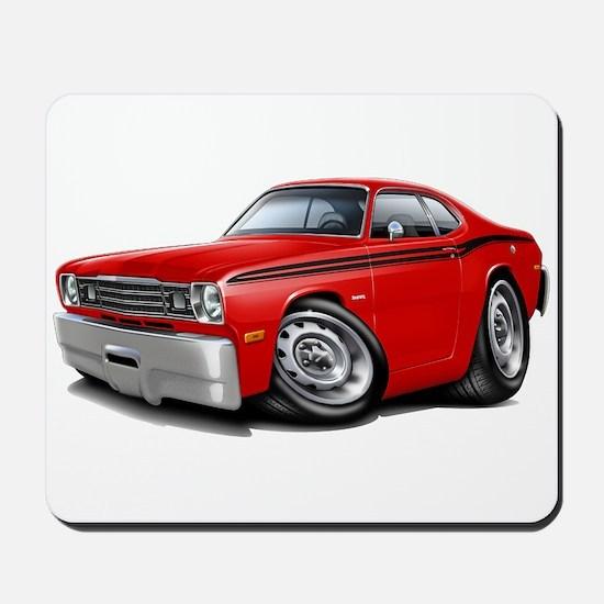 Duster Red-Black Car Mousepad