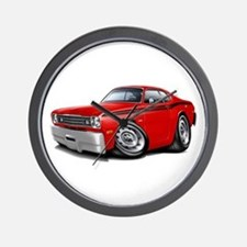 Duster Red-Black Car Wall Clock