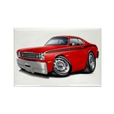 Duster Red-Black Car Rectangle Magnet